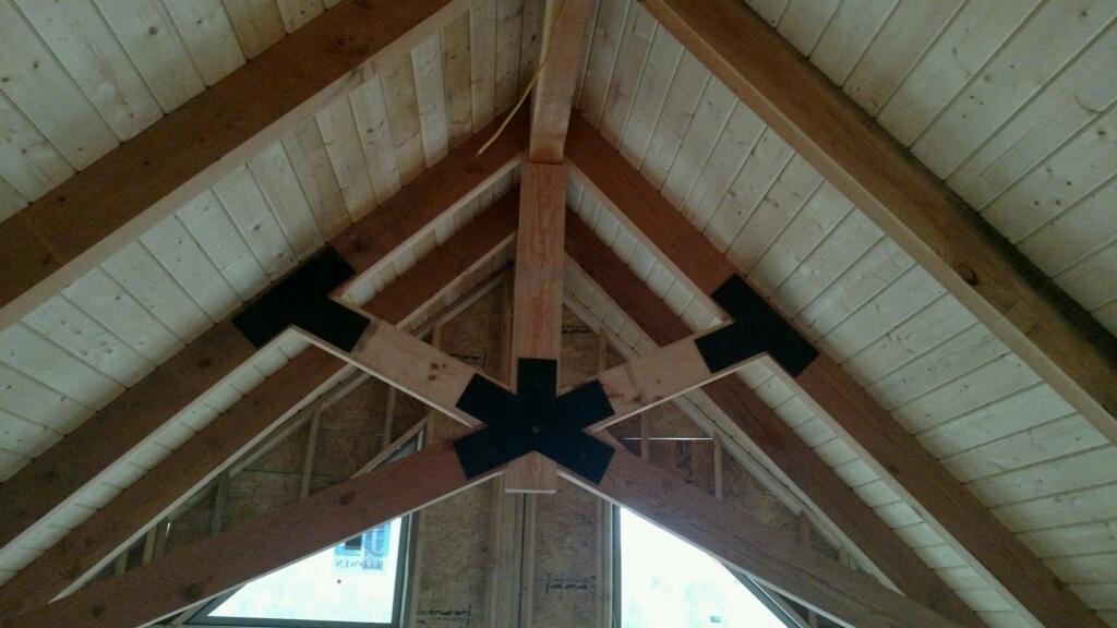 Ridge View Lodge timber frame construction