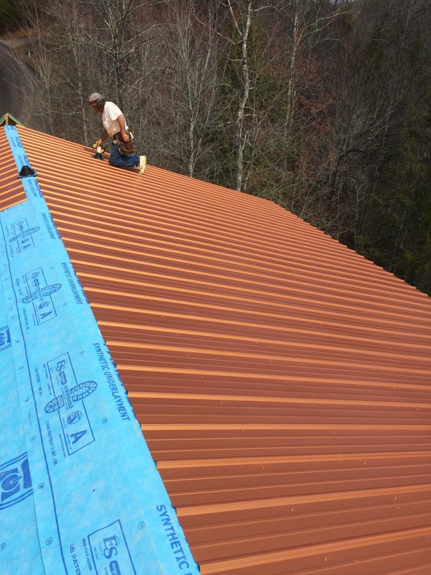 Ridge View Lodge metal roof