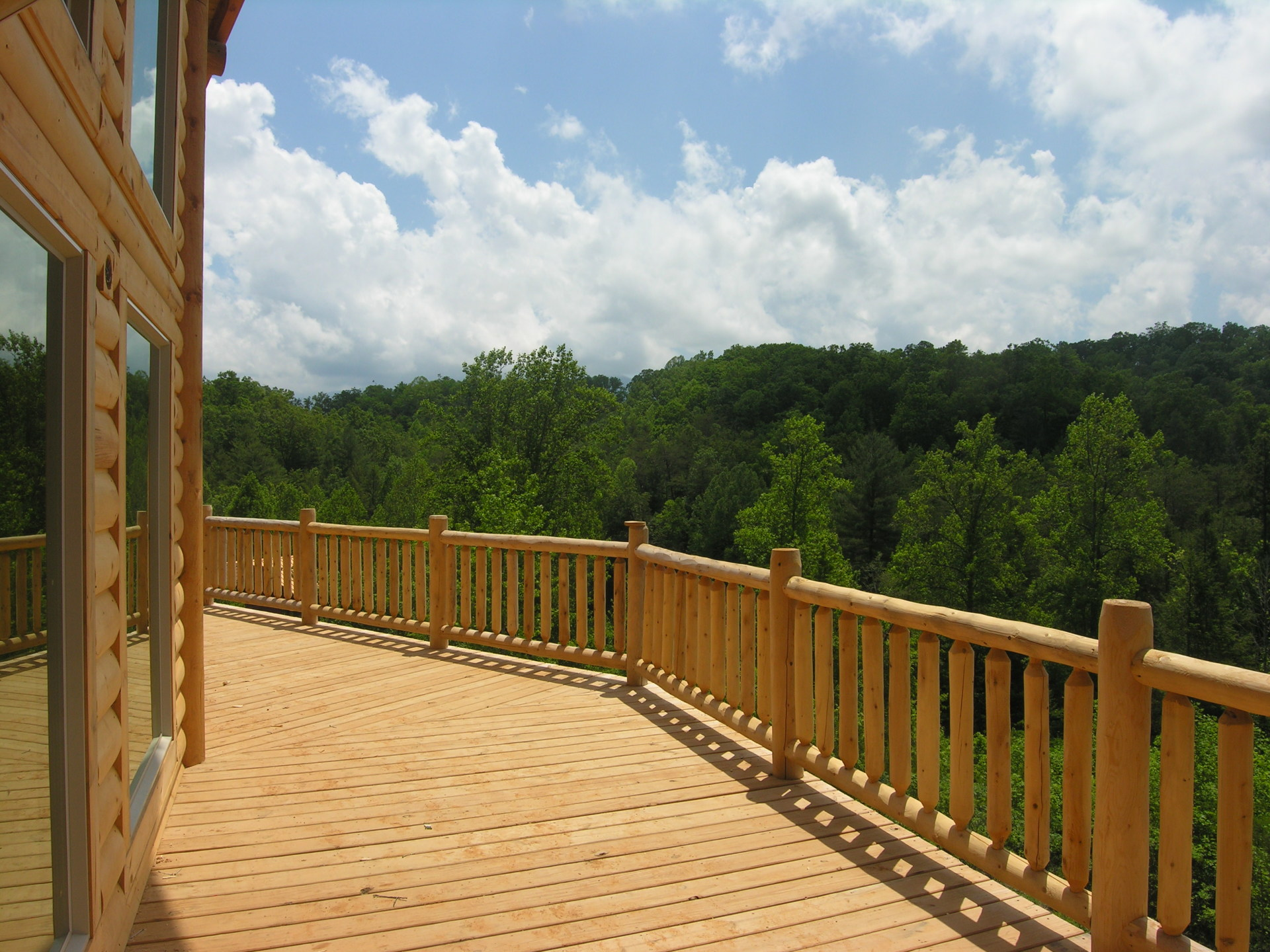 View from the front deck