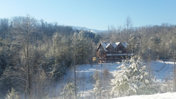 Cold and crisp January day after snowfall in the Smokies