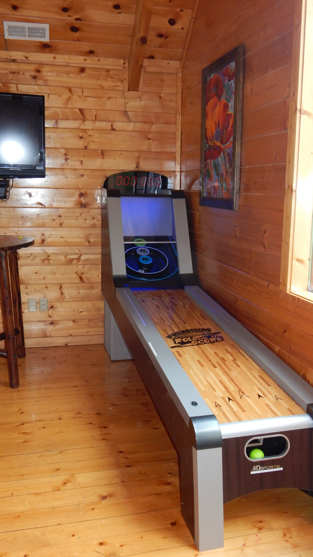 Blue Mountain Lodge skee ball game