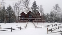 Blue Mountain Lodge vacation cabin winter snow