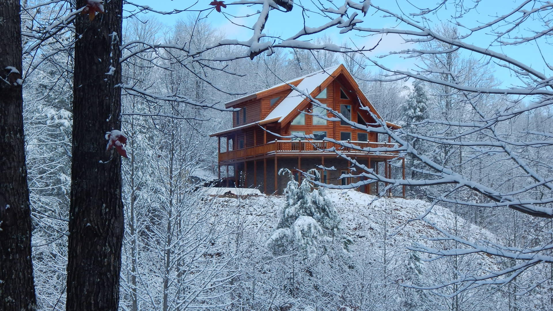 Ridge View Lodge Gatlinburg cabin in winter