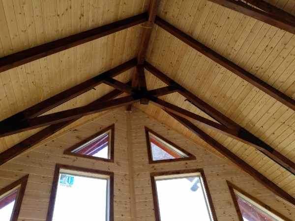 Ridge View Lodge cabin New Gatlinburg cabin - stained interior