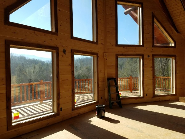 Ridge View Lodge Blue Mountain Cabins brand new 5 bd cabin inerior