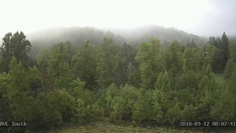 Live photo from ridge view lodge cabin in the smokies