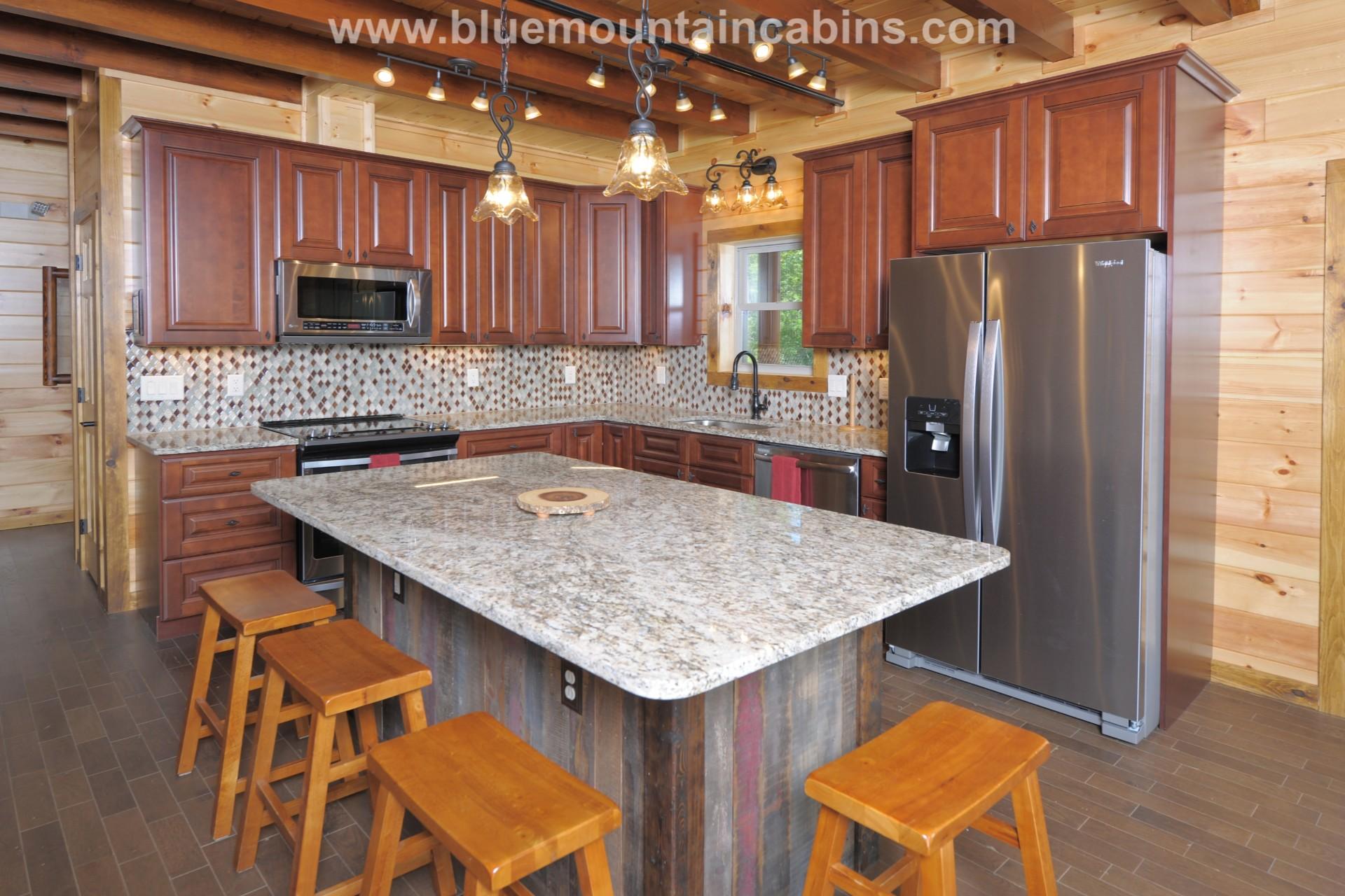 rustic elegant kitchen design in the smokies cabin