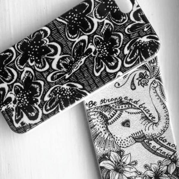 textile candy, phone case, iphone design, phone cover, customised phone, personalised phone case, elephant phone case