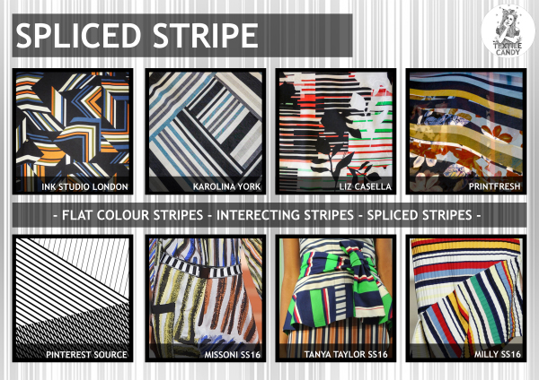 Textile candy, print trends, trend forecasting service, trend prediction, premiere vision paris, premiere vision report, review, wearepremierevision, sliced stripe, stripe fashion