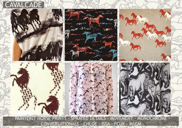 Textile candy, print trends, trend forecasting service, trend prediction, premiere vision paris, premiere vision report, review, wearepremierevision, horse print, horse pattern