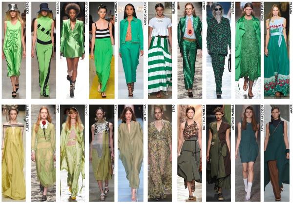 womenswear trend, print trend, fashion trend, catwalk analysis, runway review, Spring/Summer 2016, SS16, green, bottle green, forest green, khaki green
