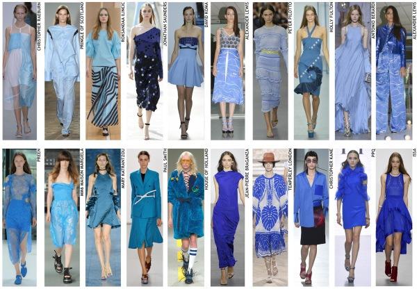 womenswear trend, print trend, fashion trend, catwalk analysis, runway review, Spring/Summer 2016, SS16, blue