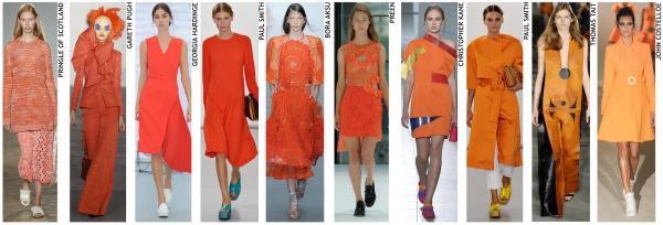 womenswear trend, print trend, fashion trend, catwalk analysis, runway review, Spring/Summer 2016, SS16, London fashion week, New York fashion week, Paris fashion week, Milan fashion week, orange