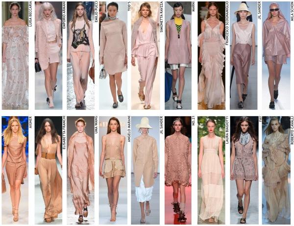 womenswear trend, print trend, fashion trend, catwalk analysis, runway review, Spring/Summer 2016, SS16, London fashion week, New York fashion week, Paris fashion week, Milan fashion week, nude
