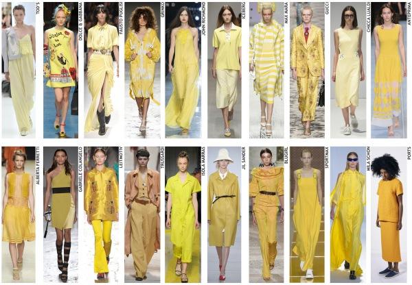 womenswear trend, print trend, fashion trend, catwalk analysis, runway review, Spring/Summer 2016, SS16, London fashion week, New York fashion week, Paris fashion week, Milan fashion week, yellow