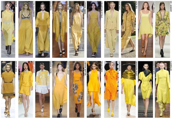 womenswear trend, print trend, fashion trend, catwalk analysis, runway review, Spring/Summer 2016, SS16, London fashion week, New York fashion week, Paris fashion week, Milan fashion week, golden, yellow, ochre