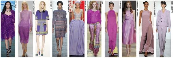 womenswear trend, print trend, fashion trend, catwalk analysis, runway review, Spring/Summer 2016, SS16, London fashion week, New York fashion week, Paris fashion week, Milan fashion week, purple