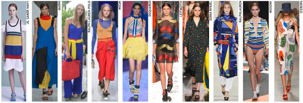 womenswear trend, print trend, fashion trend, catwalk analysis, runway review, Spring/Summer 2016, SS16, primary colours
