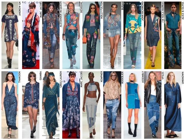 womenswear trend, print trend, fashion trend, catwalk analysis, runway review, Spring/Summer 2016, SS16, denim update, denim trend, embroidered denim