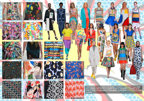 womenswear trend, print trend, fashion trend, catwalk analysis, runway review, Spring/Summer 2016, SS16, pop art fashion, bright colour trend, andy warhol fashion, primary colours trend