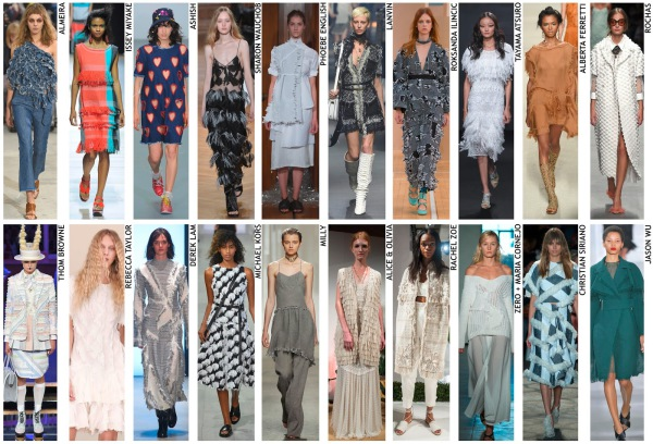 womenswear trend, print trend, fashion trend, catwalk analysis, runway review, Spring/Summer 2016, SS16, ragged, loose ties, rough edges