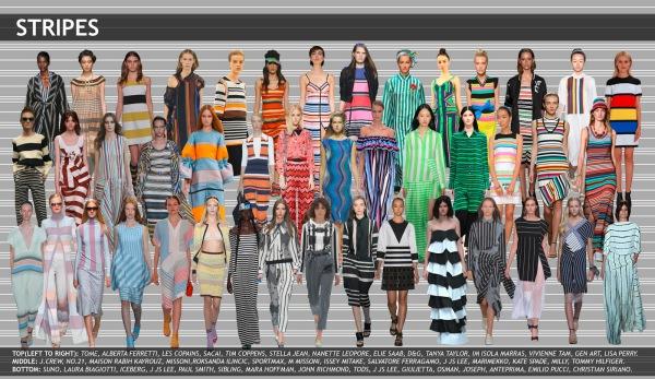 womenswear trend, print trend, fashion trend, catwalk analysis, runway review, Spring/Summer 2016, SS16, stripe fashion, stripe trend