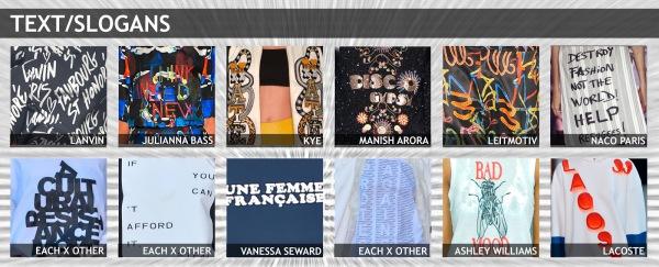 womenswear trend, print trend, fashion trend, catwalk analysis, runway review, Spring/Summer 2016, SS16, slogan tee, slogan fashion, slogan design