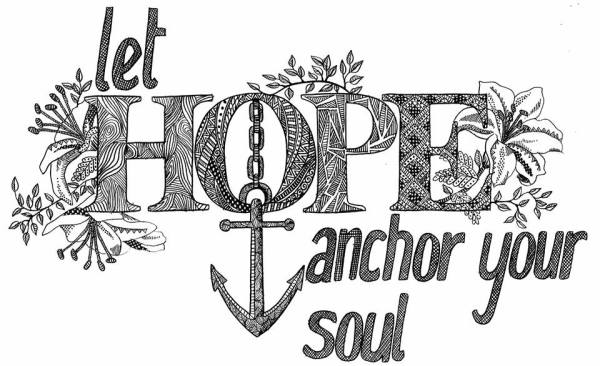 Textile candy, freelance illustration, quote art, quote illustration, she believed she could, love illustration, zentangle quote, let hope anchor your soul, wall art