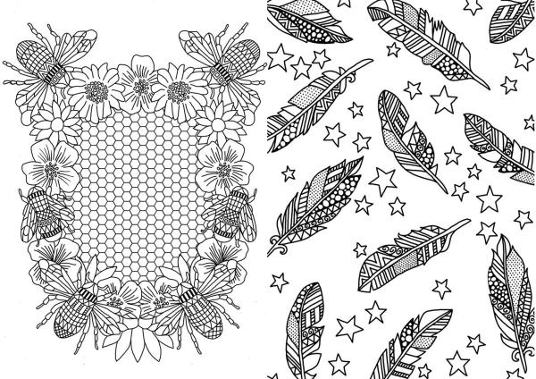 Michael O Mara books, illustration commission, adult colouring books, book illustration, freelance illustrator, textile candy