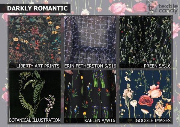dark florals, dark ground floral, floral print, textile candy, premiere vision paris, premiere vision, trend forecast, Spring/Summer 2017, SS17, spring trends, fashion trend, textile design, print design, print trend, textile trend, WGSN, fashion prediction