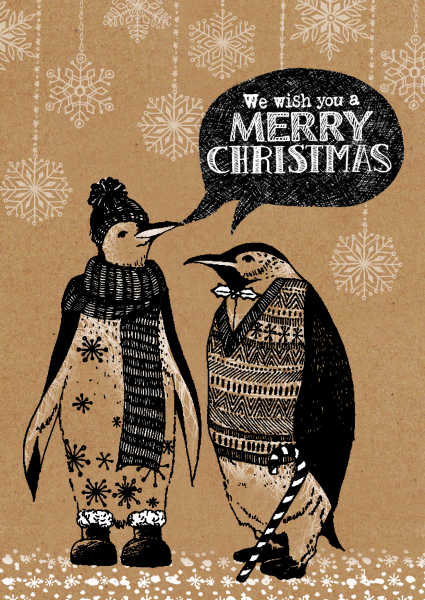 ,zentangle illustration, outline illustration, animal illustration, christmas card design, print designer, freelance designer, textile designer, freelance illustrator, penguin illustration