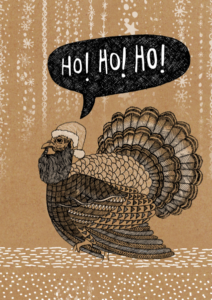 christmas turkey, turkey illustration,zentangle illustration, outline illustration, animal illustration, christmas card design, print designer, freelance designer, textile designer, freelance illustrator