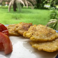 Patacones! (Fried Plantain Chips)