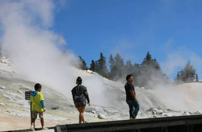 Bumpass Hell at Lassen Volcanic National Park, California, USA