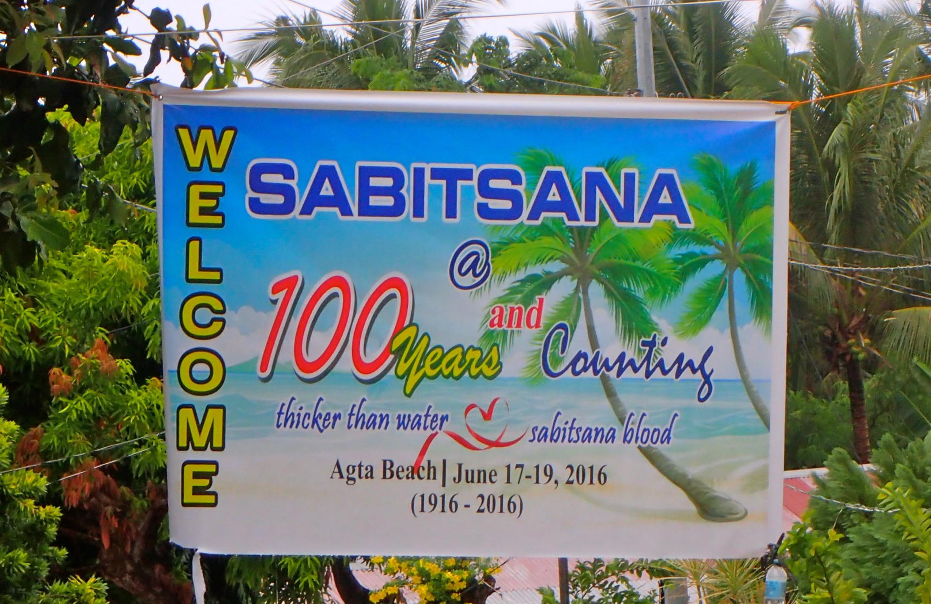 Sabitsana Centennial Reunion Banner