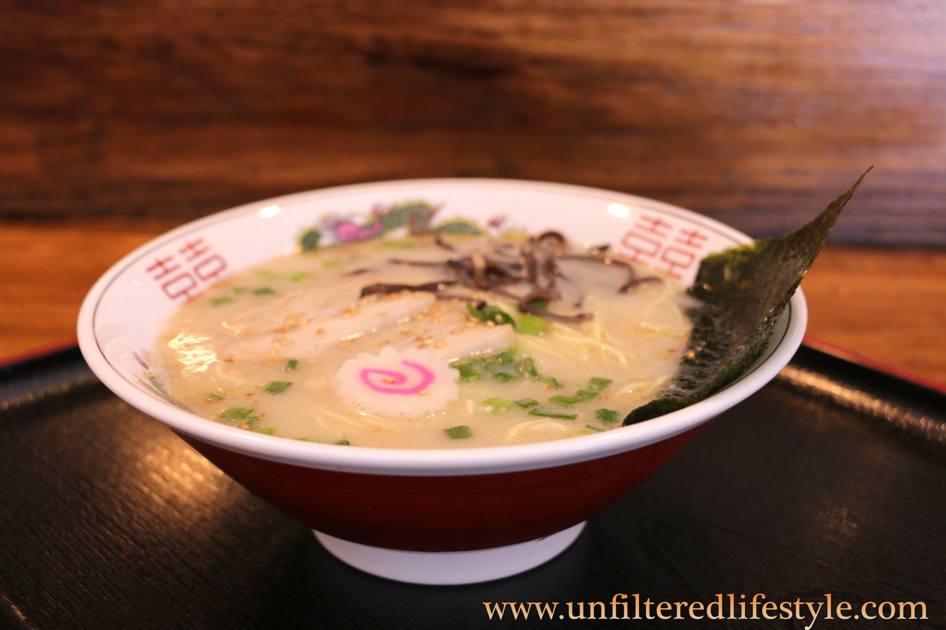 old school ramen, it has a rich, milky, pork-bone tonkotsu broth