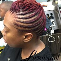 flat twist up-do
