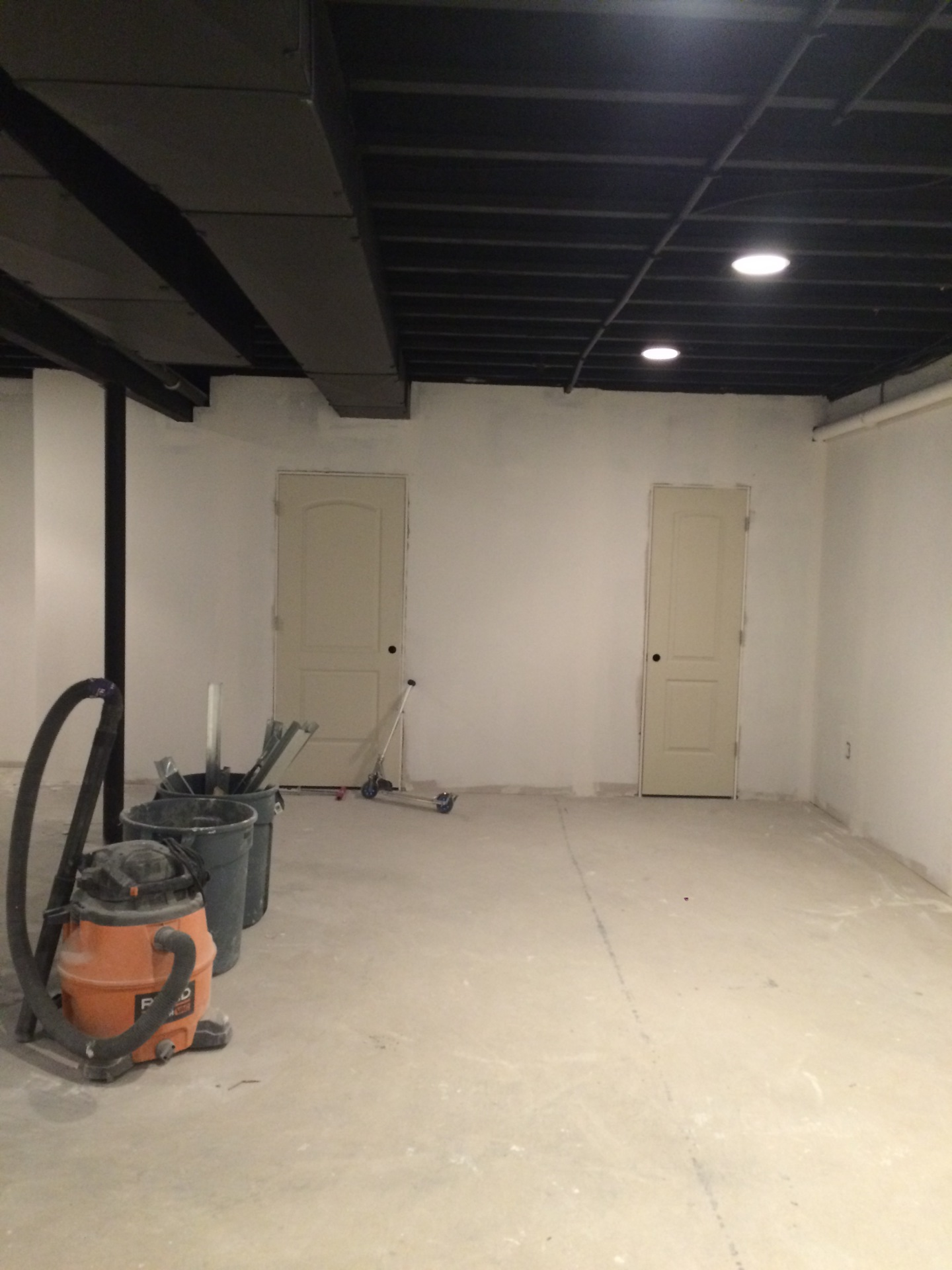 Sheetrock and Doors