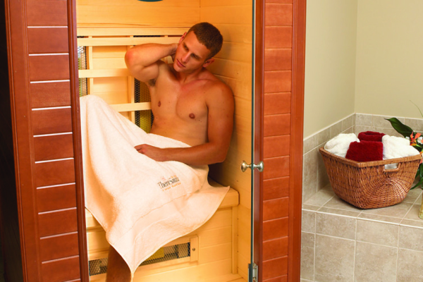 Infrared dry heat sauna