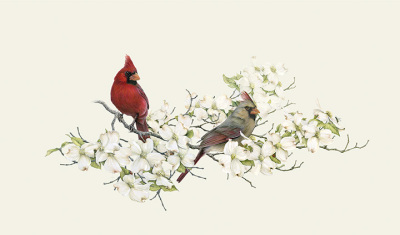 """Have I Told You I Love You Today?""    cardinals & dogwood         LG $85   SM $60"