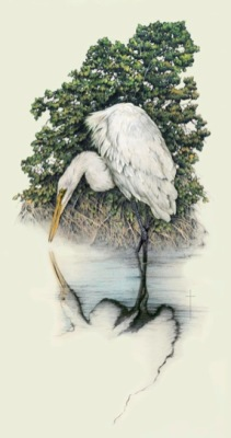 """Soul Searching""    white egret          LG $225       MED $110       SM $60"