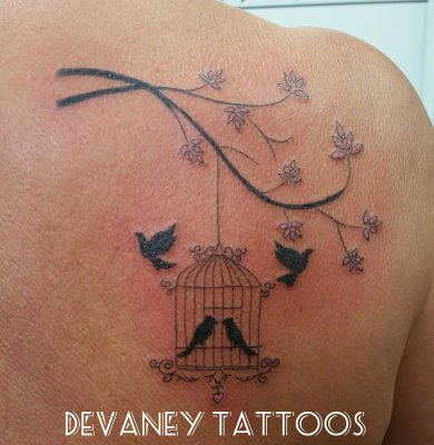pretty bird cage in memory