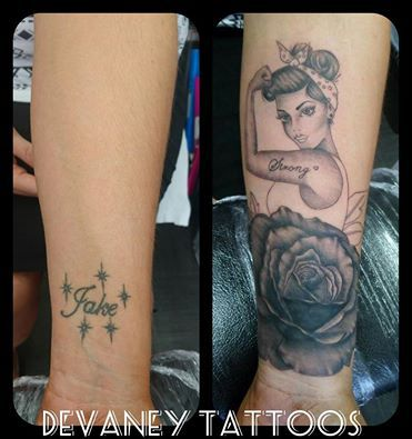 cover up in progress