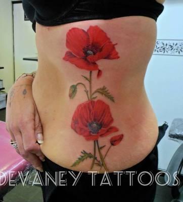 fresh poppy tattoo