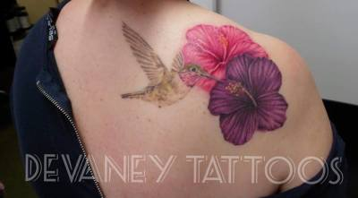 finished this cover up all healed apart from the pink flower