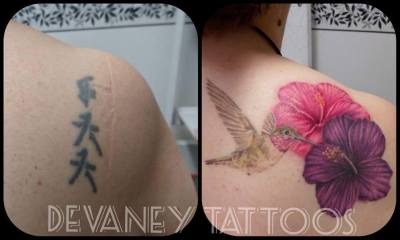 before and after cover up