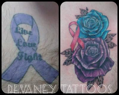 part healed cover up