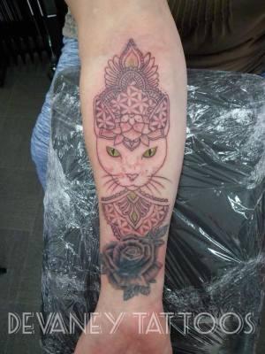 cat mandala cover up