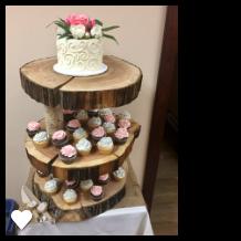 Item #2 Log Cupcake Tower $50