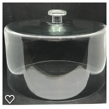 Item #8 Large Glass Dome Lid $10